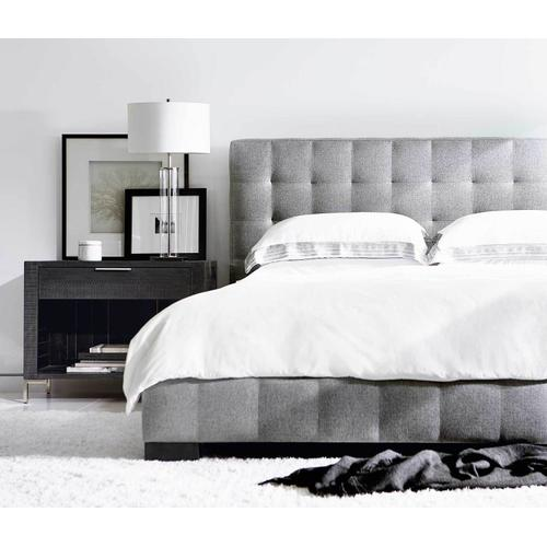 Queen-Sized LaSalle Upholstered Bed in Cinder