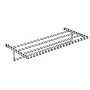 """Polished Chrome 24"""" Hotel Shelf Frame with Towel Bar"""