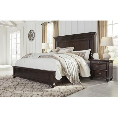 Brynhurst - Dark Brown 3 Piece Bed Set (King)