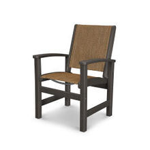 Coastal Dining Chair in Vintage Coffee / Chateau Sling