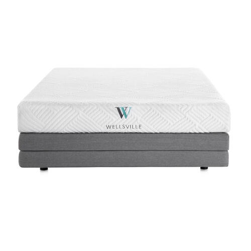 BED IN A BOX - Wellsville 8 Inch Gel Foam Mattress
