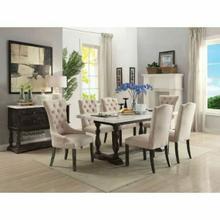 ACME Gerardo Dining Table - 60820 - White Marble & Weathered Espresso