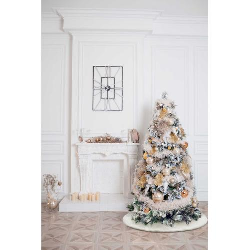 """Home for the Holiday Qy411 White 48"""" X 48"""" Round Tree Skirt"""