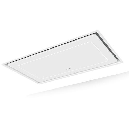 "36"" X 19"" ceiling mount white island hood"