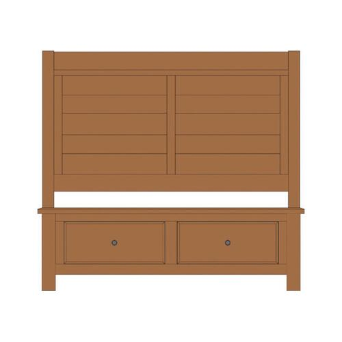 Vaughan-Bassett - King Sleigh bed with Footboard Storage