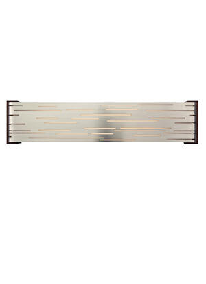 Satin Nickel with Walnut Wood Trim Revel Linear Wall Product Image
