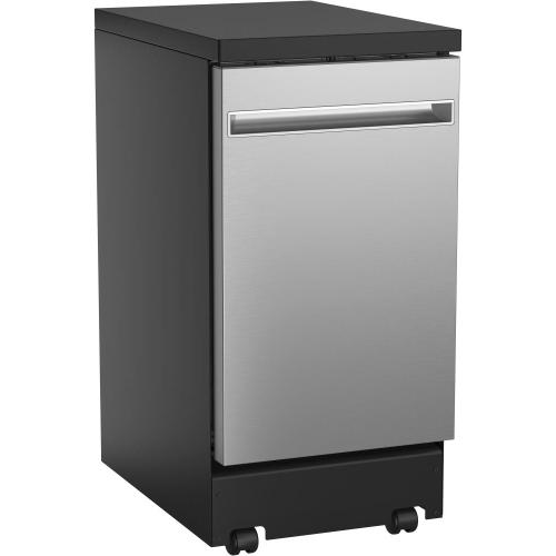 "GE® 18"" Stainless Steel Interior Portable Dishwasher with Sanitize Cycle"