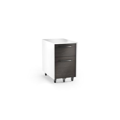 Mobile File Pedestal 6307 in Charcoal Stained Ash Satin White