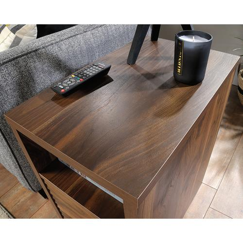 Side Table with Slide Out Tray