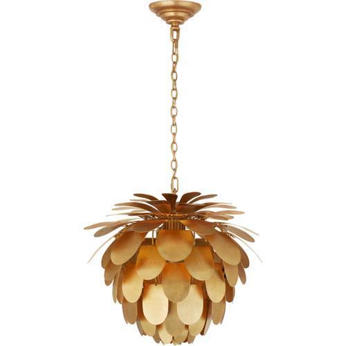 - E. F. Chapman Cynara 1 Light 17 inch Gild Chandelier Ceiling Light, Small