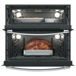 """GE Profile 30"""" Built-In Twin Flex Convection Wall Oven"""