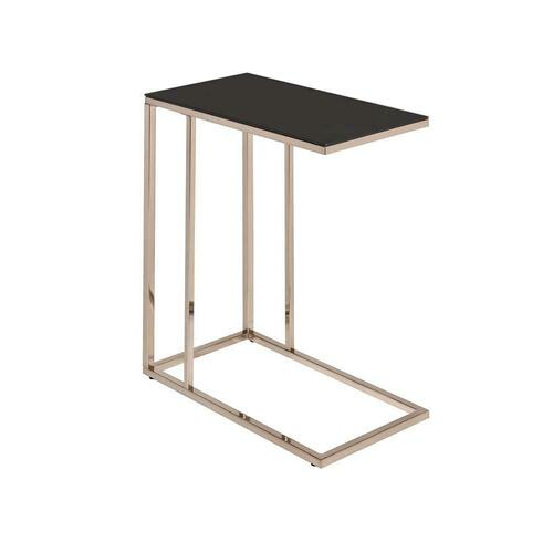 Product Image - Contemporary Chocolate Chrome Snack Table