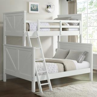 See Details - Tahoe Youth Twin over Full Bunk Bed  Sea shell