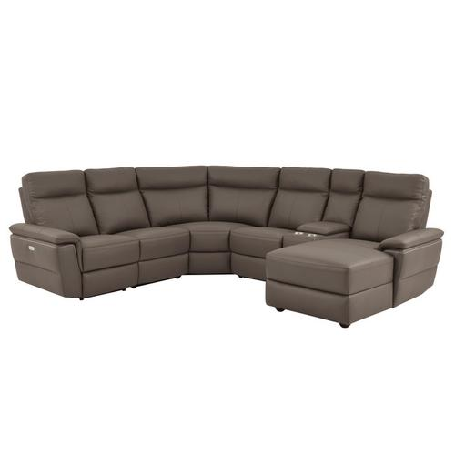 Gallery - 6-Piece Modular Power Reclining Sectional with Right Chaise