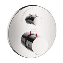 Chrome Thermostat for concealed installation with shut-off valve