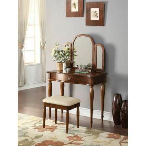 Acme Furniture Inc - ACME Burke Vanity Set - 90206 - Dark Hazelnut