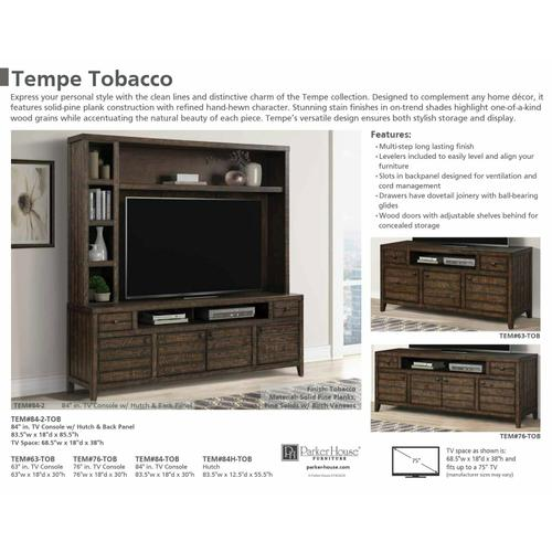TEMPE - TOBACCO Hutch and Backpanel