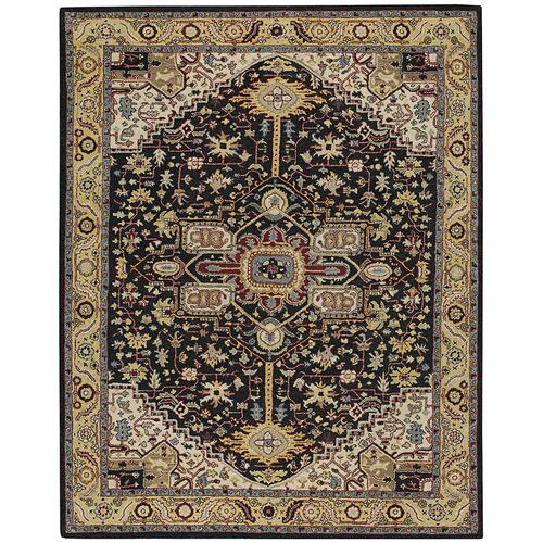 Izmir-Serapi Black Gold Hand Tufted Rugs