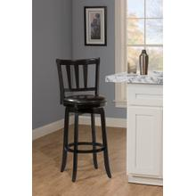 Presque Isle Swivel Bar Height Stool - Black