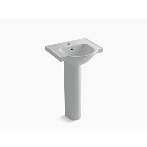 """Ice Grey 21"""" Pedestal Bathroom Sink With Single Faucet Hole"""