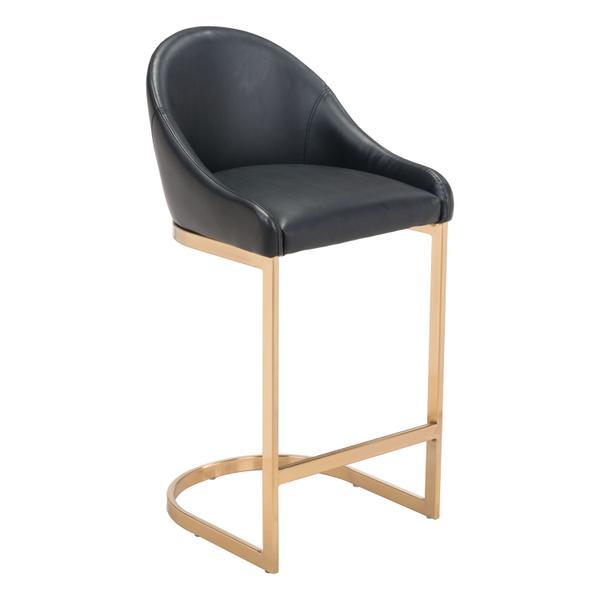 See Details - Scott Counter Chair Black