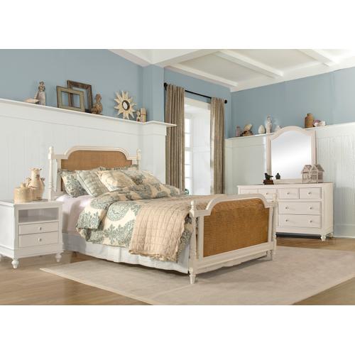 Melanie King Wood Bed, White