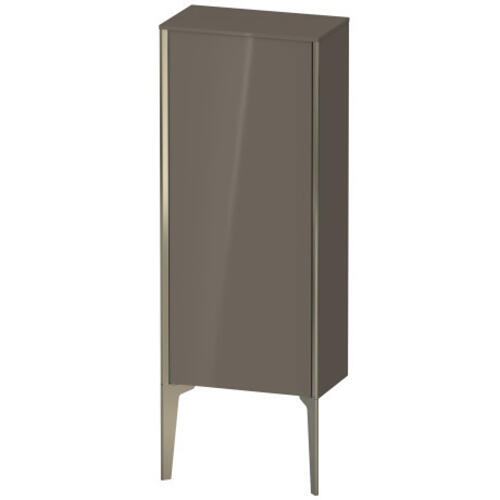 Duravit - Semi-tall Cabinet Floorstanding, Flannel Gray High Gloss (lacquer)