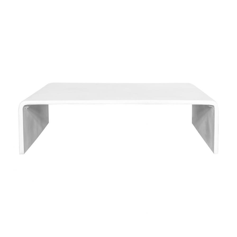 Pearl Square Outdoor Coffee Table White
