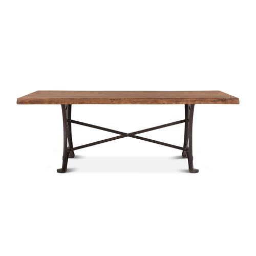 "Organic Forge 94"" Dining Table Raw Walnut"