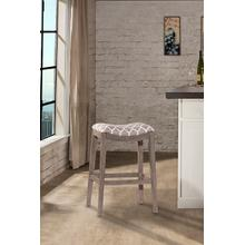 See Details - Sorella Non Swivel Backless Counter Stool - Gray