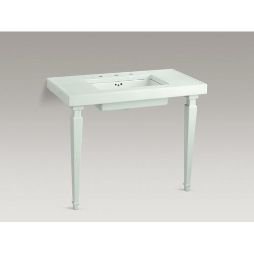 White Tapered Fireclay Table Legs