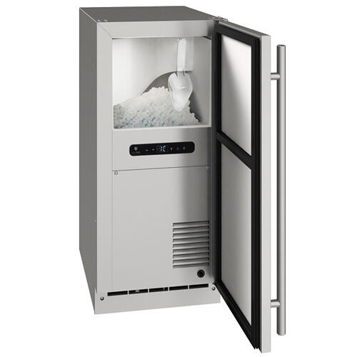 """15"""" Nugget Ice Machine With Stainless Solid Finish (230 V/50 Hz Volts /50 Hz Hz)"""