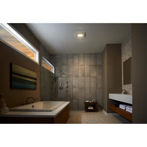 Broan® Humidity Sensing Bathroom Exhaust Fan w/ LED Light, ENERGY STAR®, 50-110 CFM