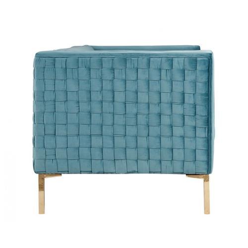 Gallery - Divani Casa Putnum Modern Blue Velvet Sofa