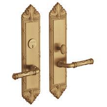Vintage Brass Fenwick Escutcheon Entrance Set