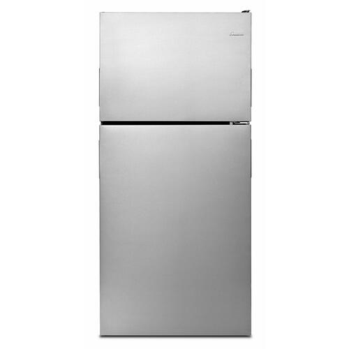 Product Image - 30-inch Amana® Top-Freezer Refrigerator with Glass Shelves - Stainless Steel
