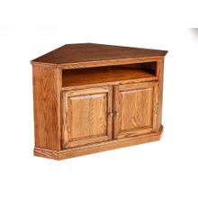 Forest Designs Traditional Oak Corner TV Cart: 51W x 32H x 32D