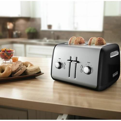 KitchenAid - 4-Slice Toaster with Manual High-Lift Lever - Onyx Black