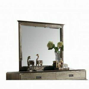 ACME Athouman Mirror - 23924 - Weathered Oak