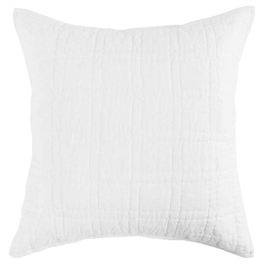 See Details - Carly White Euro Sham with SILVADUR Tech
