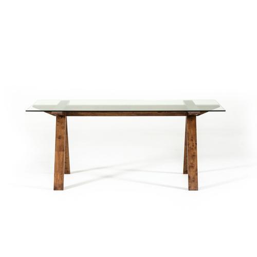 VIG Furniture - Modrest Maddox Modern Glass & Walnut Dining Table