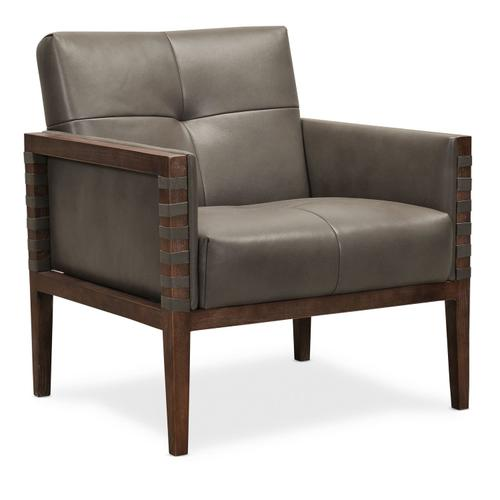 Living Room Carverdale Leather Club Chair w/Wood Frame