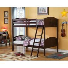 ACME Toshi Twin/Twin Bunk Bed - 37010 - Espresso