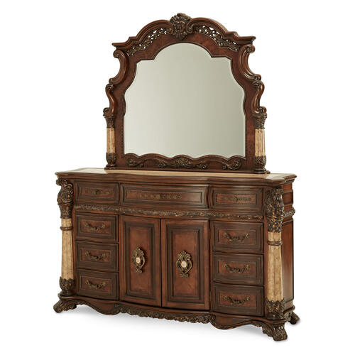 Product Image - Storage Console- Dresser & Mirror