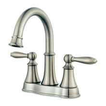 "Brushed Nickel 2-Handle 4"" Centerset Bathroom Faucet"