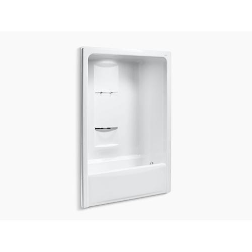 """White 60"""" X 35"""" Bath and Shower Stall With Right Hand Drain, Requires Grab Bar"""