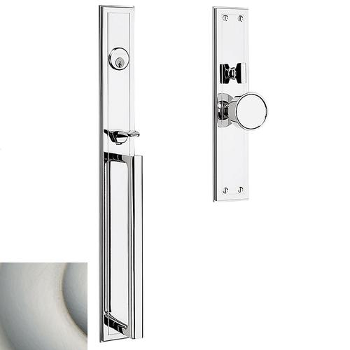 Satin Nickel with Lifetime Finish Hollywood Hills Mortise Handleset Trim