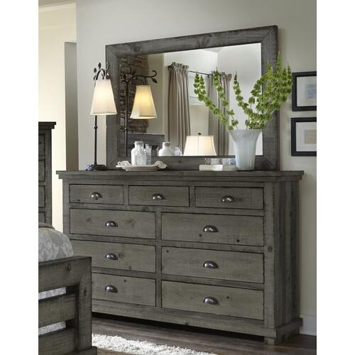 Drawer Dresser - Distressed Dark Gray Finish