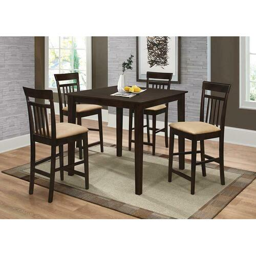See Details - Casual Cappuccino Five-piece Dining Set