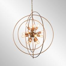 See Details - Cosmos Iron Chandelier Large w/Bulb